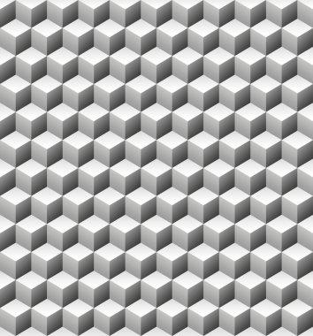Gray stone cubes seamless texture