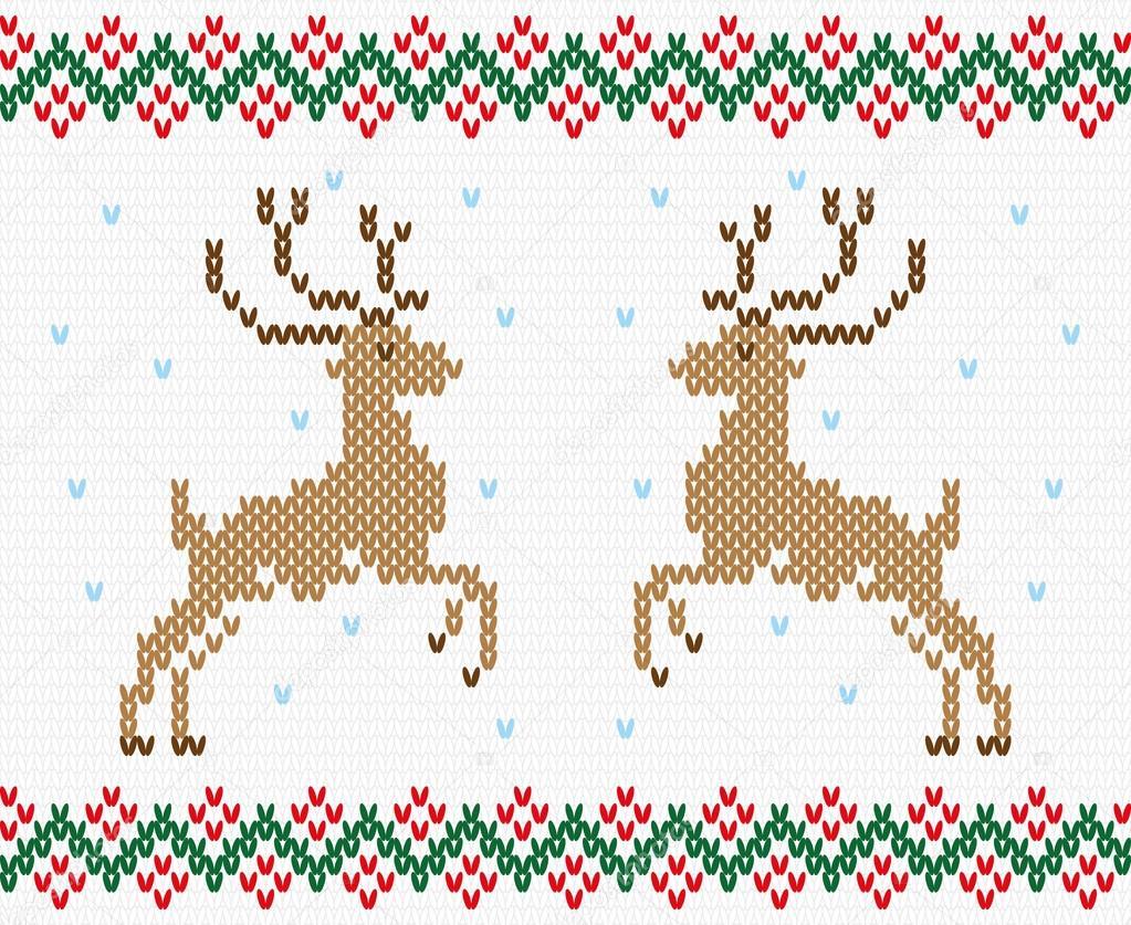 Ciervo de Navidad bordado vector textura transparente — Vector de ...