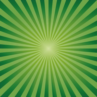 Vintage abstract background explosion green rays vector