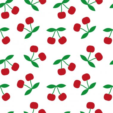 Cherry seamless texture vector