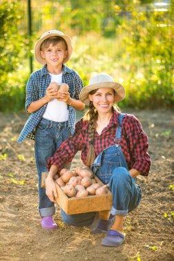 Gardeners, farmer family