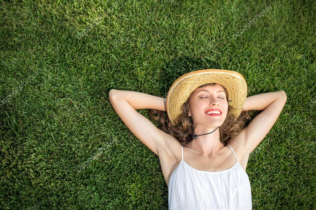 Free woman enjoying freedom feeling happy