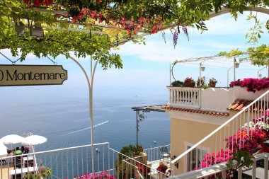 terrace of a restaurant on the Amalfi Coast