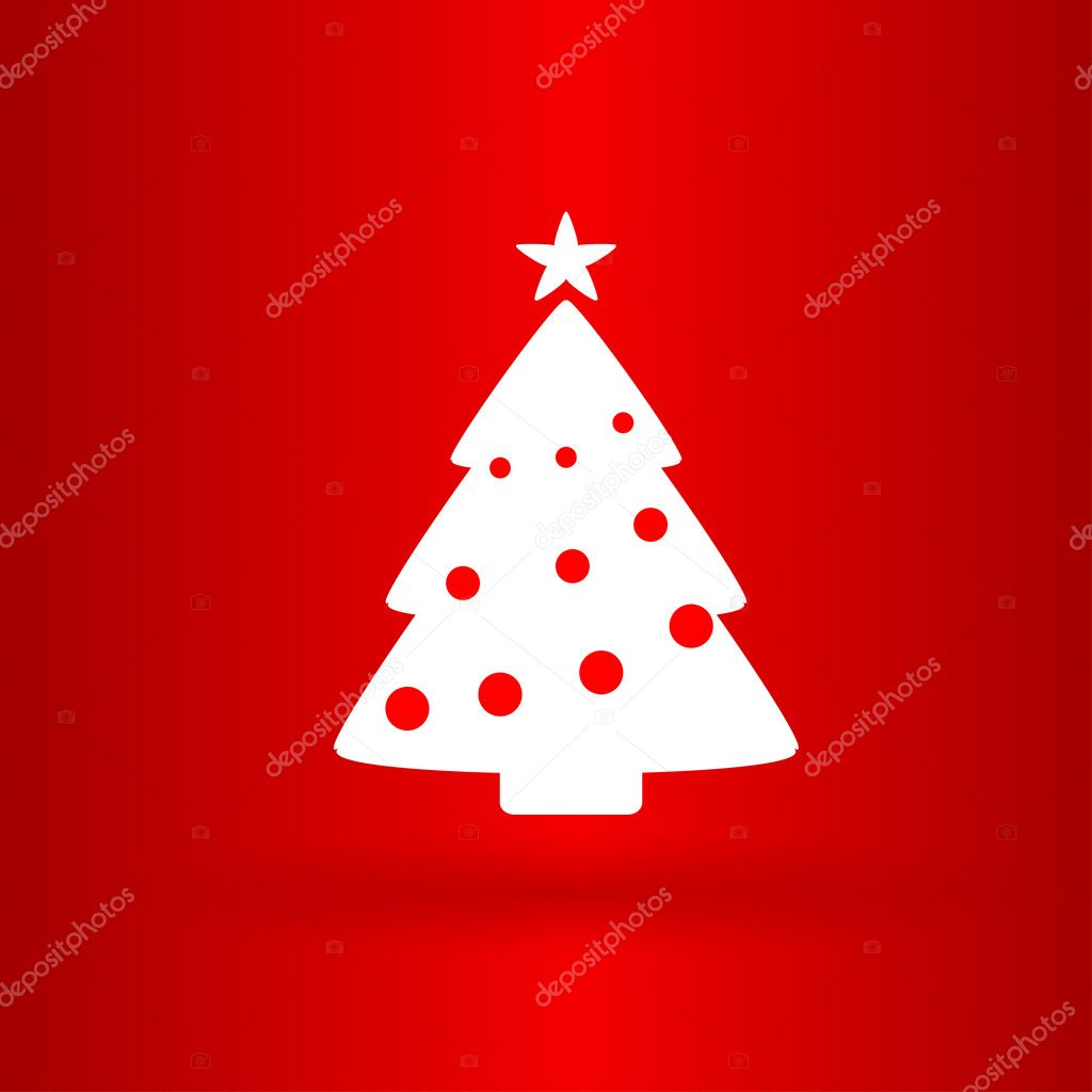 Nice Christmas tree on the red background — Stock Vector ...