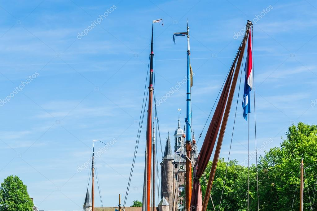 Various Sailboat masts