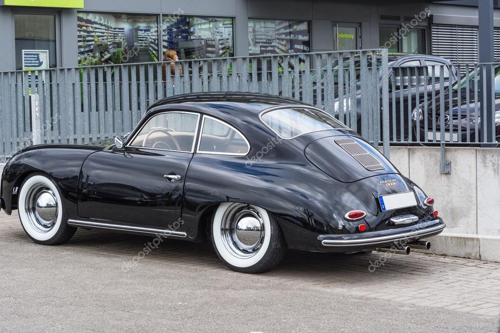 Black vintage Porsche 1600