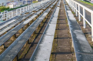 Long rows of seats