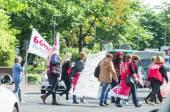 Demonstrace v německé školky střediska a školky od th