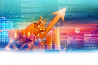 Stock market graph stock vector