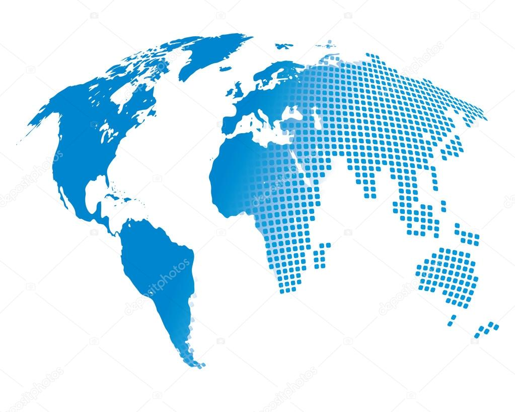 Stylized image of the world map stock vector kniazev 101964568 stylized image of the world map vector illustration vector by kniazev gumiabroncs Image collections