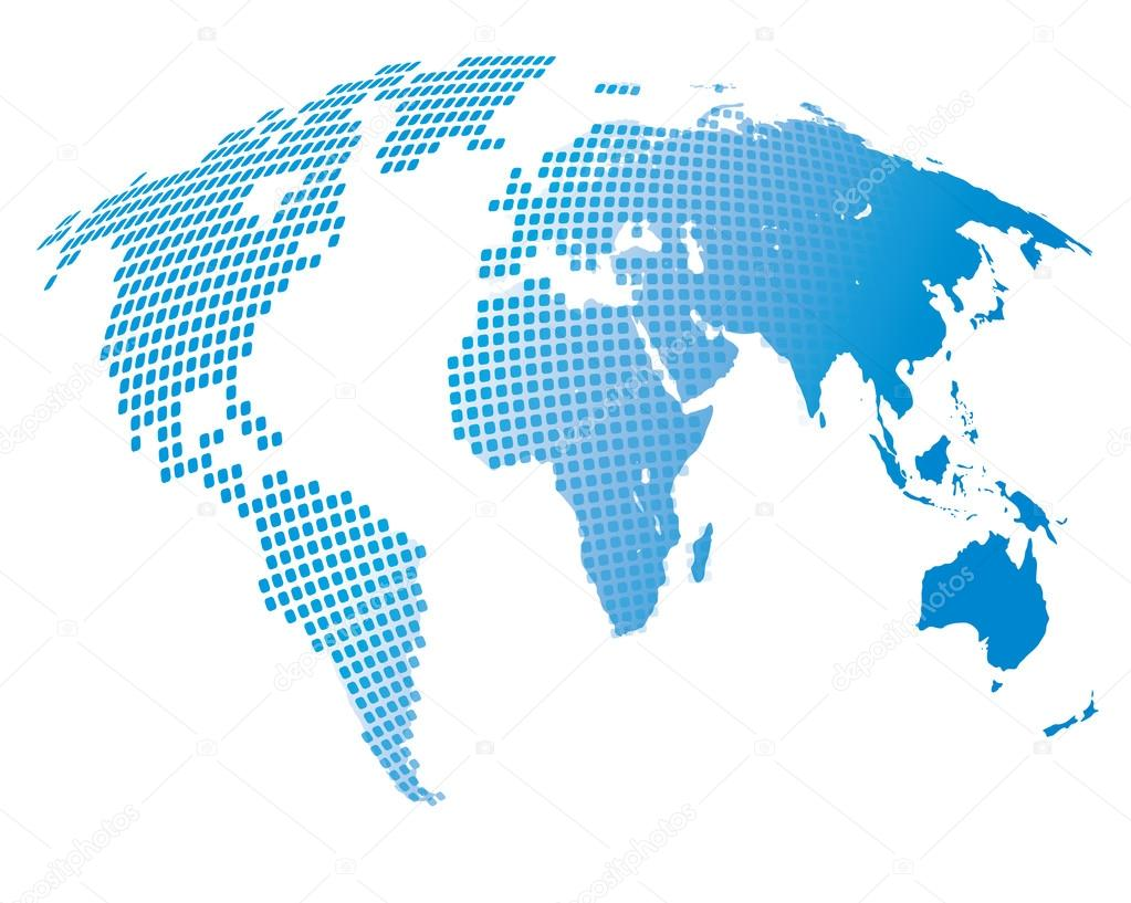 Stylized image of the world map stock vector kniazev 101964834 stylized image of the world map vector illustration vector by kniazev gumiabroncs Image collections