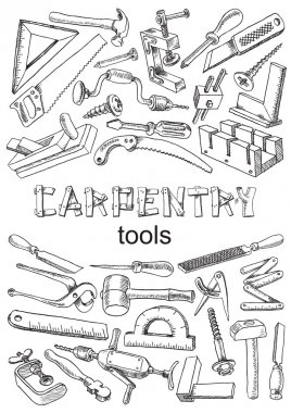 Set of tools for carpentry work