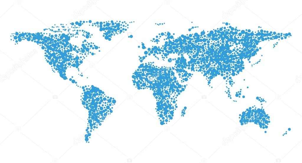 Stylized image of world map stock vector kniazev 91860586 stylized image of world map vector illustration vector by kniazev gumiabroncs Image collections