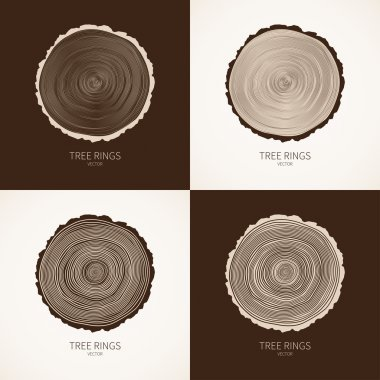 Vector tree rings conceptual background