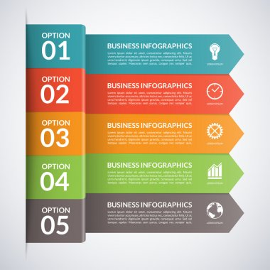 Vector arrow business infographics template