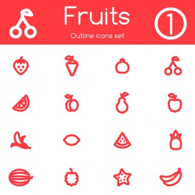 Fruits outline icons.