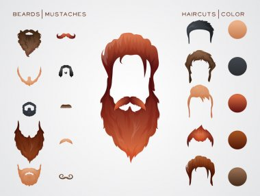 Beards and Mustaches, Hairstyles constructor