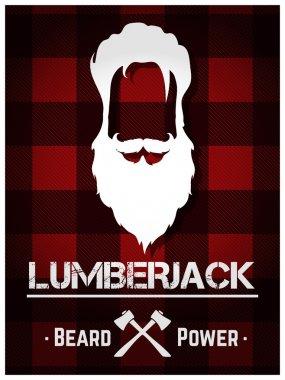 Lumberjack poster with beard