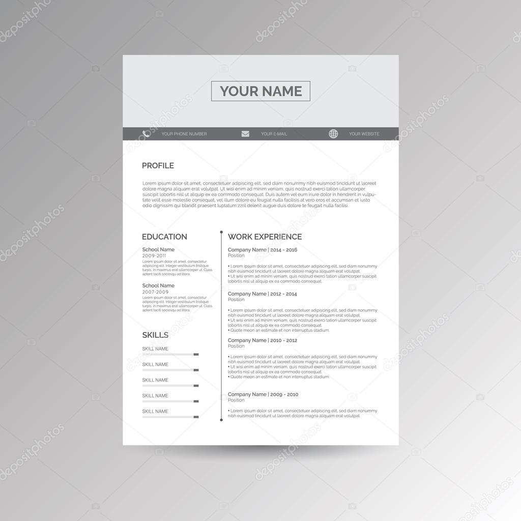 CV / reanudar plantilla — Vector de stock © s_amado #100251772