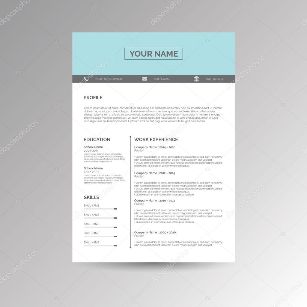 CV / reanudar plantilla — Vector de stock © s_amado #119503482