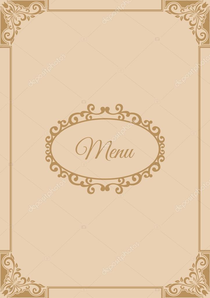 Ok adka menu dla restauracji grafika wektorowa s amado for Menu entre amis marmiton