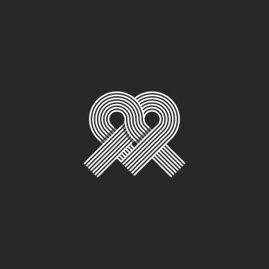 Heart logo monogram