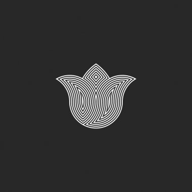 Tulip flower logo monogram