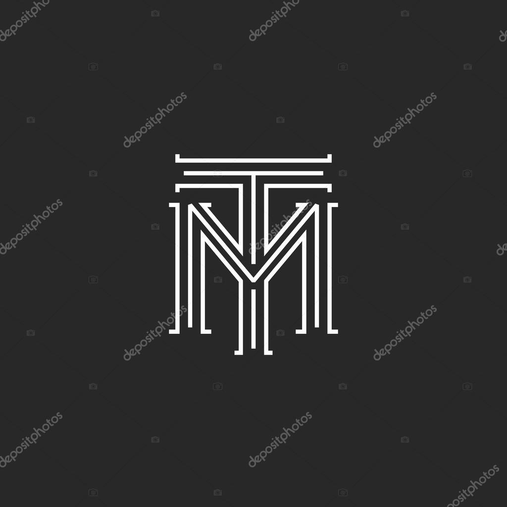 monogram hipster initials tm logo  u2014 stock vector  u00a9 uasumy  110432426