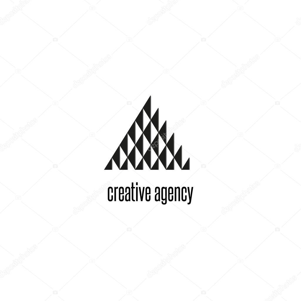 Fabuleux Forme géométrique moderne du logo triangle — Image vectorielle &SB_36