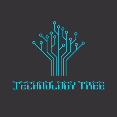 Technology tree of the microcircuit, engineering logo