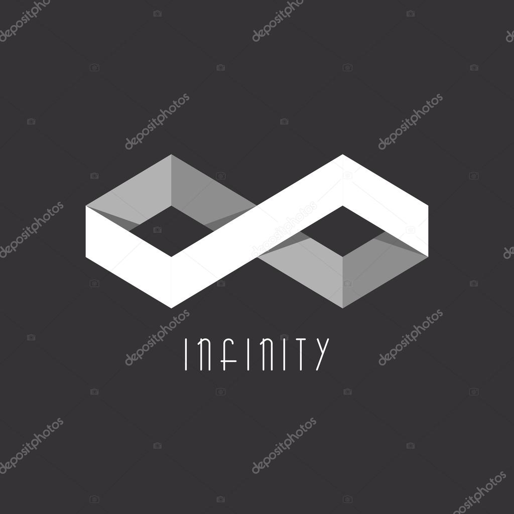 Infinity symbol black stock vectors royalty free infinity symbol 3d infinity sign of the two rhombus geometric illusion overlapping technique stock illustration biocorpaavc Choice Image