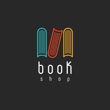 Book shop logo on black background