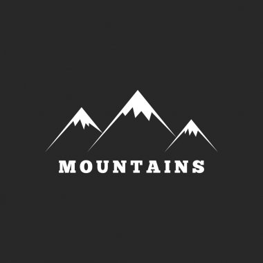 Mountains logo on black background