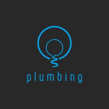 Plumbing mockup water logo