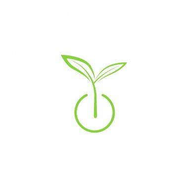 Sprout mockup eco logo