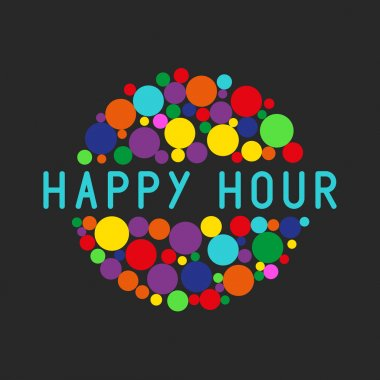 Happy hour party poster