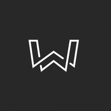 W letter logo monogram