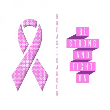 Breast cancer poster pink ribbon
