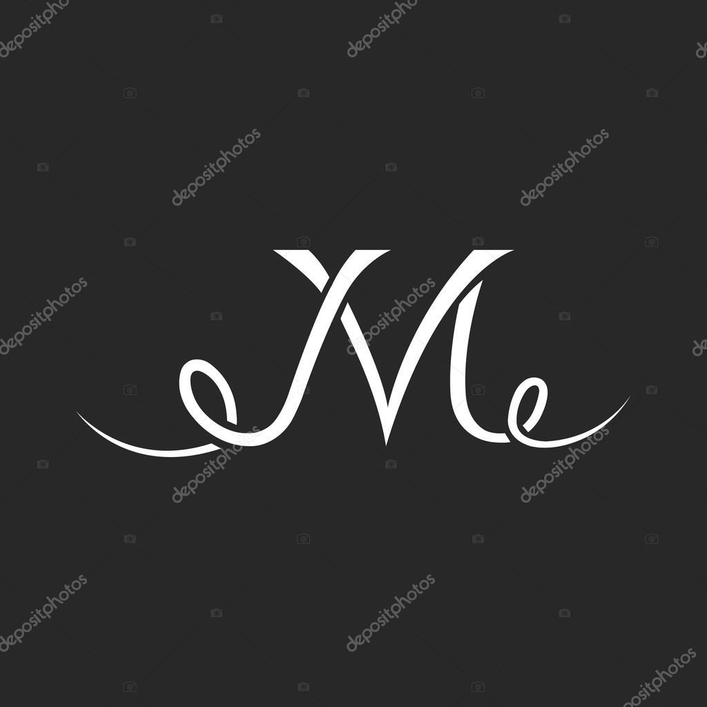Monogram Tatuaż Logo Litera M Grafika Wektorowa Uasumy