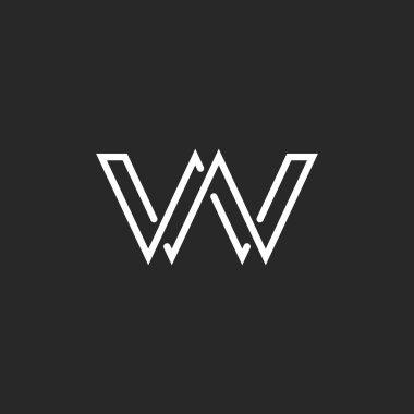 Monogram letter W logo