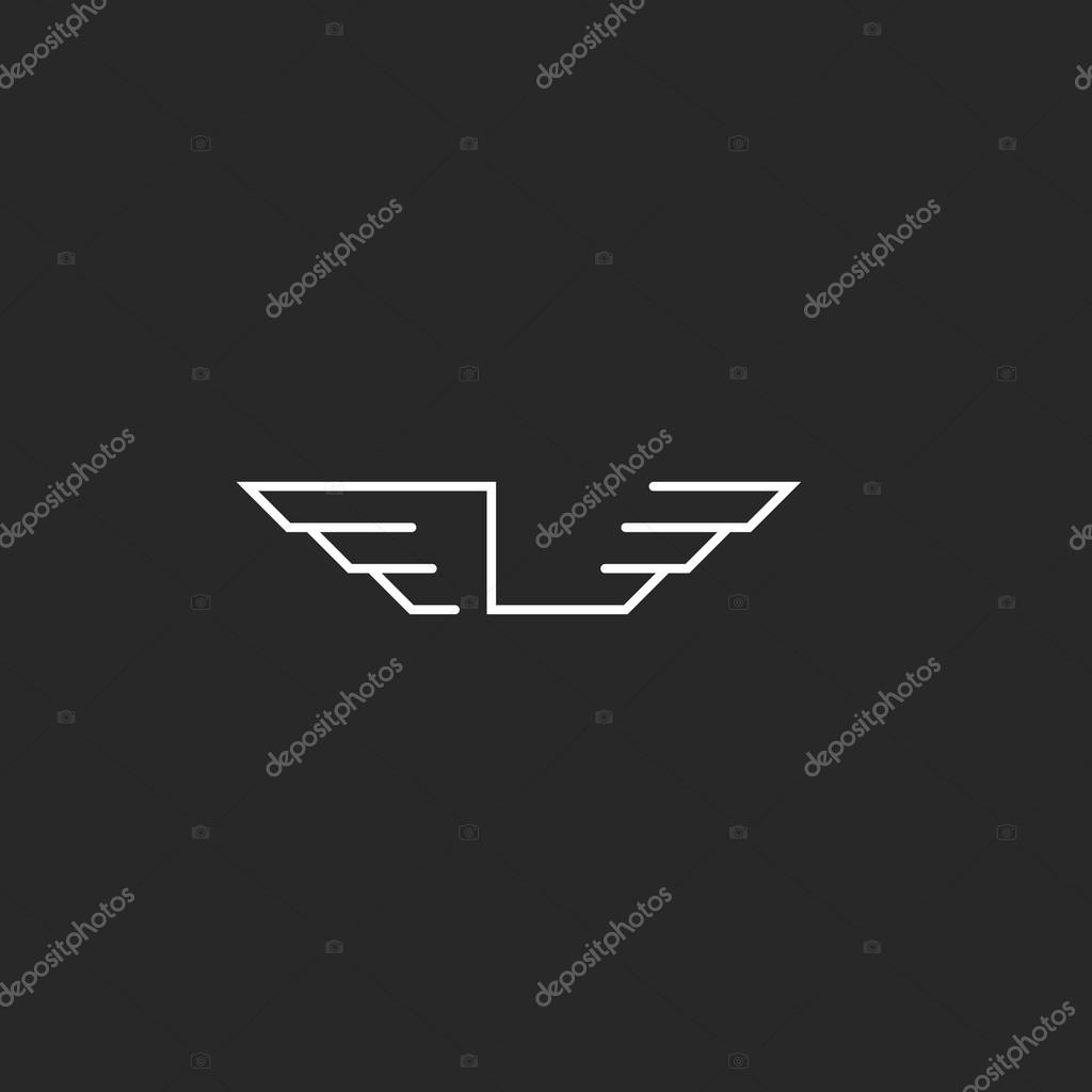 letter l logo wings monogram � stock vector 169 uasumy 92842848