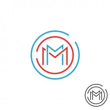 M letter logo emblem