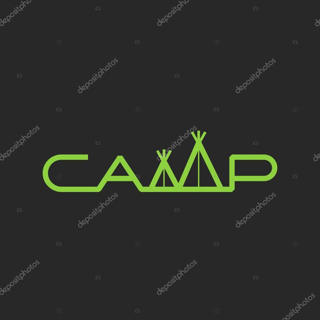 Letras de campo de la palabra logotipo tienda — Archivo Imágenes ...