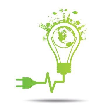 Green ecology environmentally friendly .