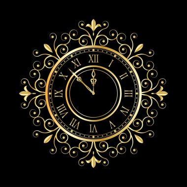 Gold clock vintage style