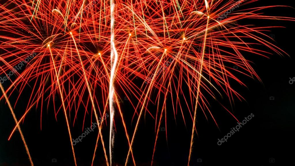 new year celebrate with fireworks lighting as background texture stock photo