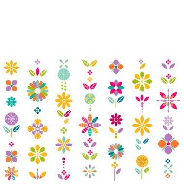 "Картина, постер, плакат, фотообои ""colorful flower symbol contemporary graphic pattern, vector illustration"", артикул 119636072"
