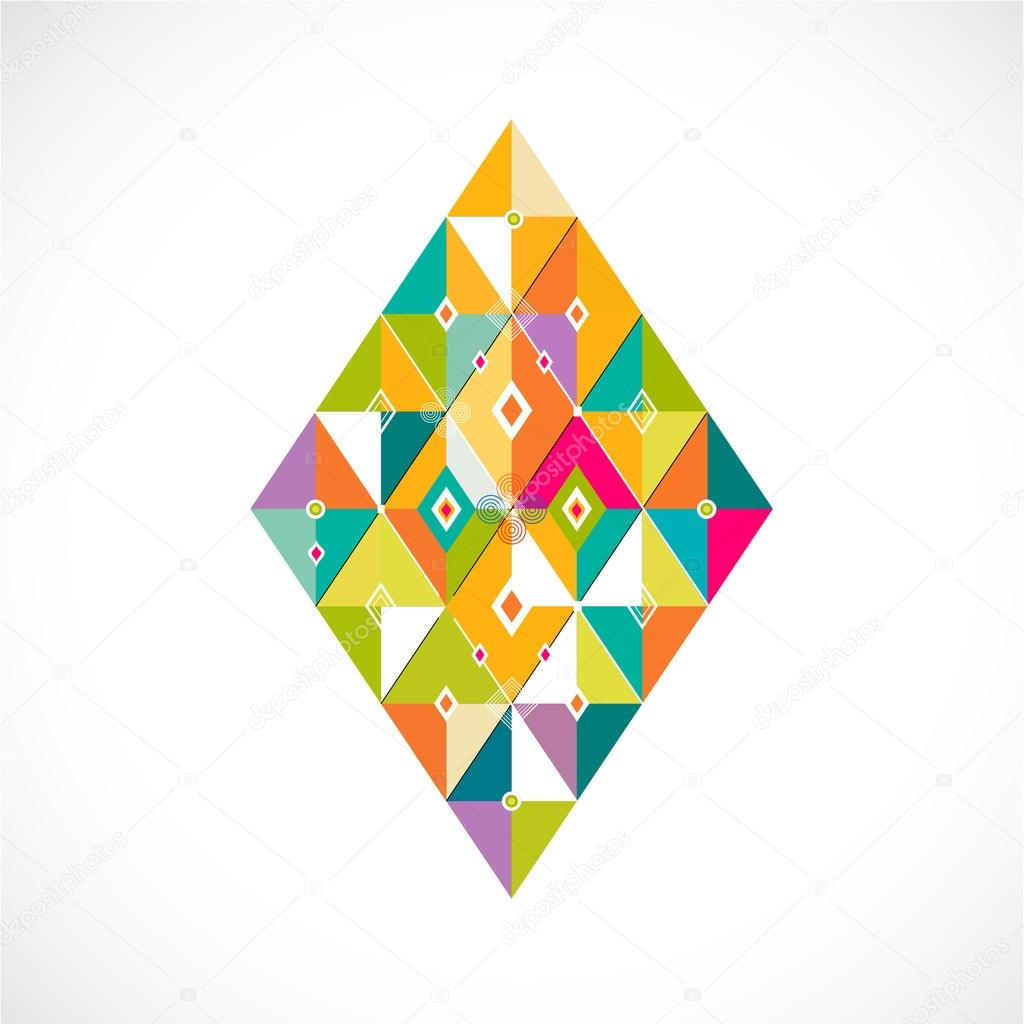 Geometric pattern Thai contemporary art style template, vector illustration