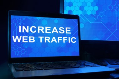 Computer with words increase web traffi.