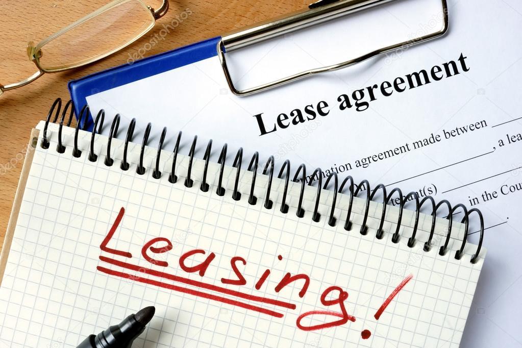Notizblock Mit Vermietung Und Leasing Vereinbarung Formular